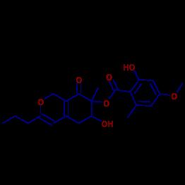 6 Hydroxy 7 Methyl 8 Oxo 3 Propyl 5678 Tetrahydro 1H Isochromen Yl 2 4 Methoxy Methylbenzoate