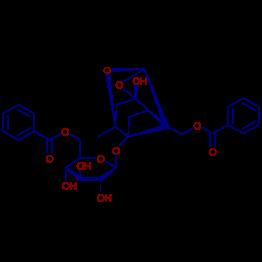 3R5R6S8S 3 6 O Benzoyl D Glucopyranosyloxy Hydroxy 8 Methyl 910 Dioxatetracyclo431025038dec 2 Ylmethyl Benzoate